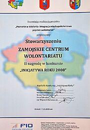 Inicjatywa Roku 2008 - II nagroda