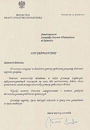 MPIPS List Gratulacyjny